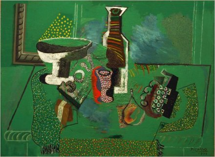 Picasso_GreenStillLife_1914