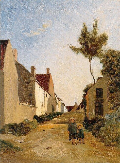 FredericBazille_VillageStreet_1865