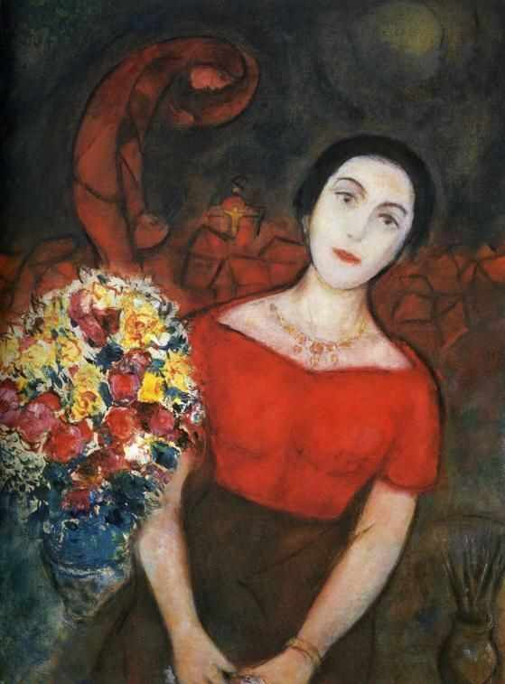 MarcChagall_PortraitOfVava_1956